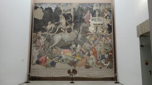 Close up of the Triumph of Death Fresco